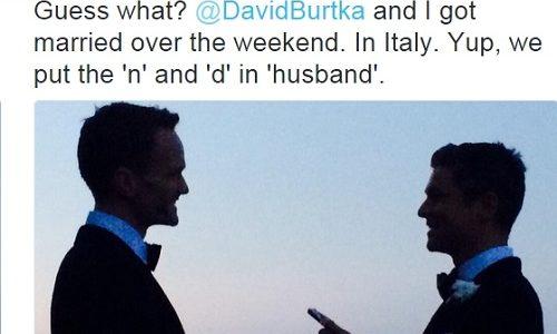 Hollywood actor Neil Patrick Harris weds his boyfriend