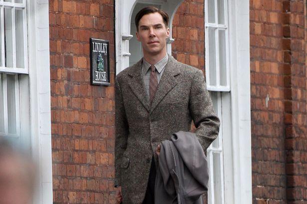 Benedict-Cumberbatch-filming-scenes-for-The-Imitation-Game