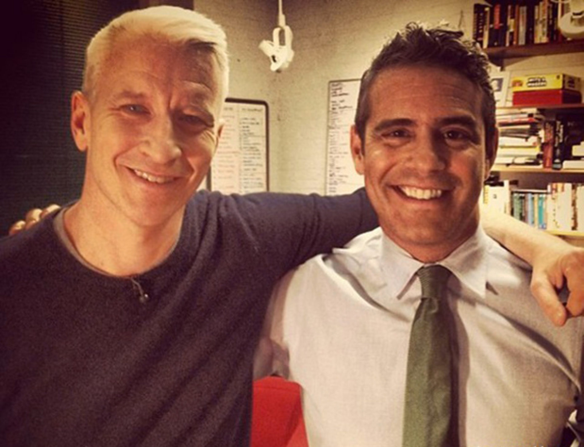 BFFs Anderson Cooper And Andy Cohen Almost Dated, But Were Too Incompatible