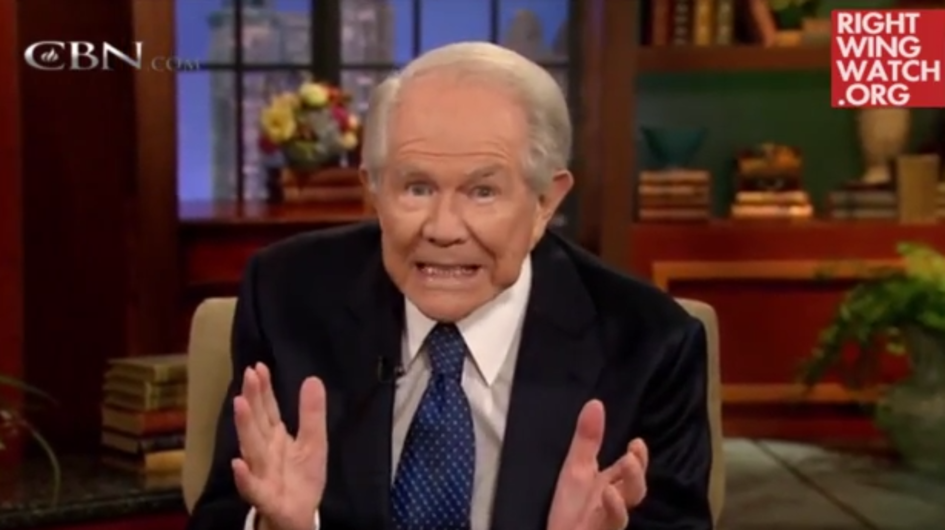 "Pat Robertson thinks ""Gays Will Die Out"" Because ""They Don't Reproduce"""