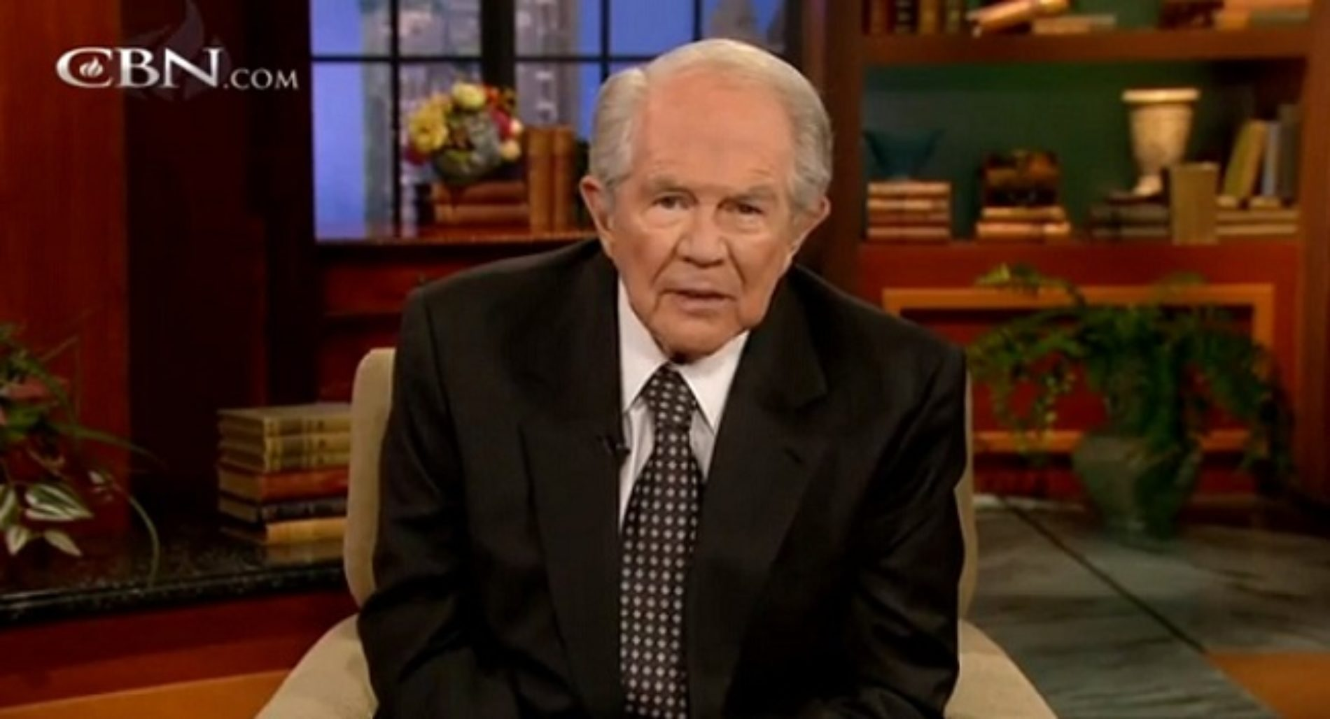 TV Preacher Pat Robertson Is At It Again