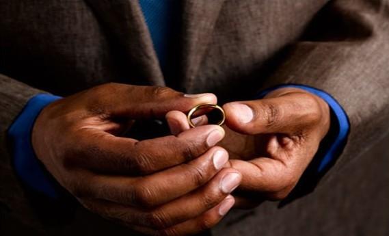man with wedding ring
