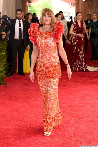 """NEW YORK, NY - MAY 04: Editor-in-Chief of Vogue Anna Wintour attends the """"China: Through The Looking Glass"""" Costume Institute Benefit Gala at the Metropolitan Museum of Art on May 4, 2015 in New York City. (Photo by Larry Busacca/Getty Images)"""