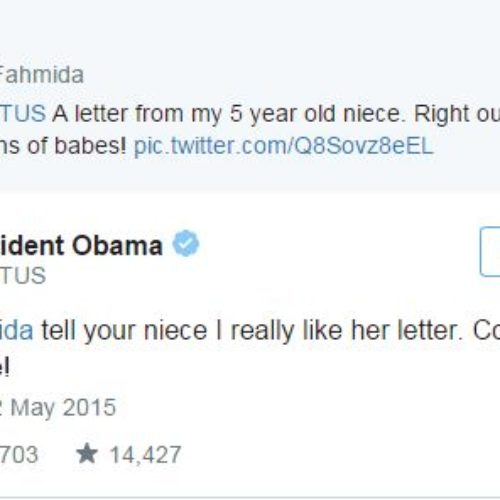 A Five-Year-Old Writes Adorable Pro-Gay Letter To Obama, He Writes Back