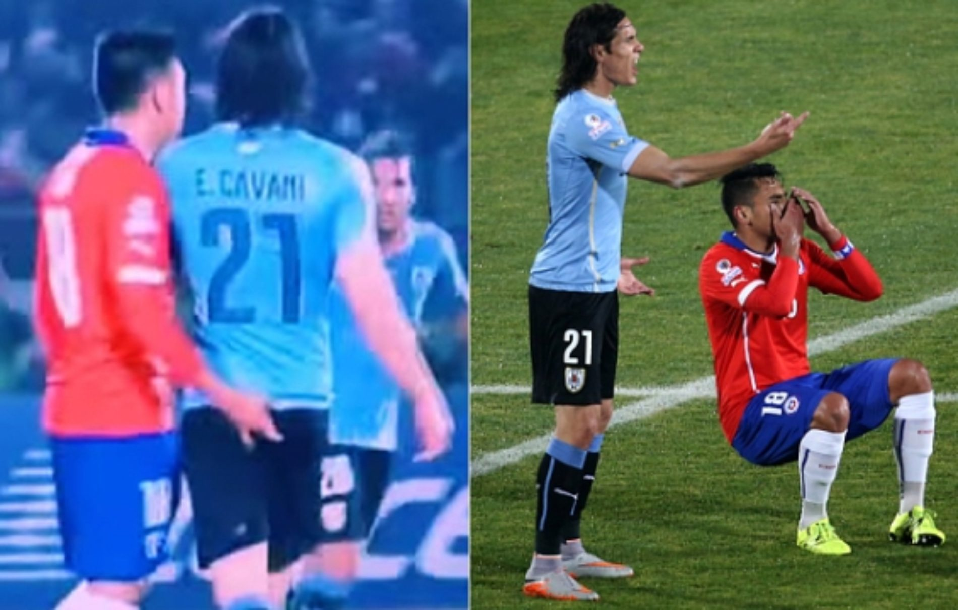 Footballer Cavani slaps Chile defender for inserting finger into his anus