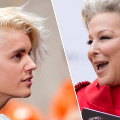 Justin Bieber Tried It With Bette Midler. Tsk, tsk.