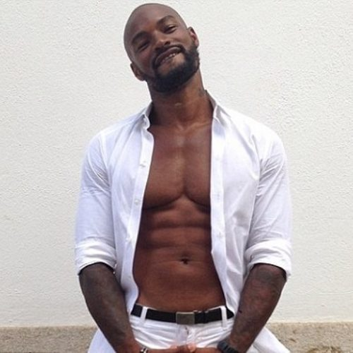 Tyson Beckford, next time, could you turn slowly around to face the camera?