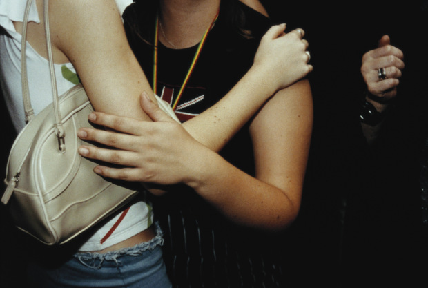 Cropped Image of Two Women Embracing