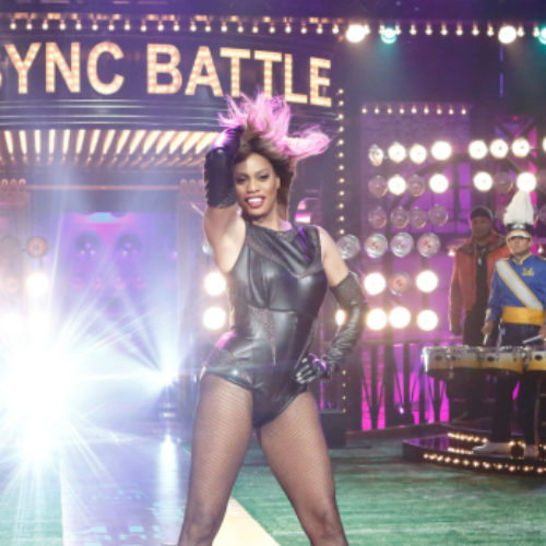 Watch Laverne Cox as she slays as Beyoncé in Lip Sync Battle