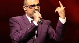 "British singer George Michael performs on stage during his ""Symphonica"" tour concert in Vienna"