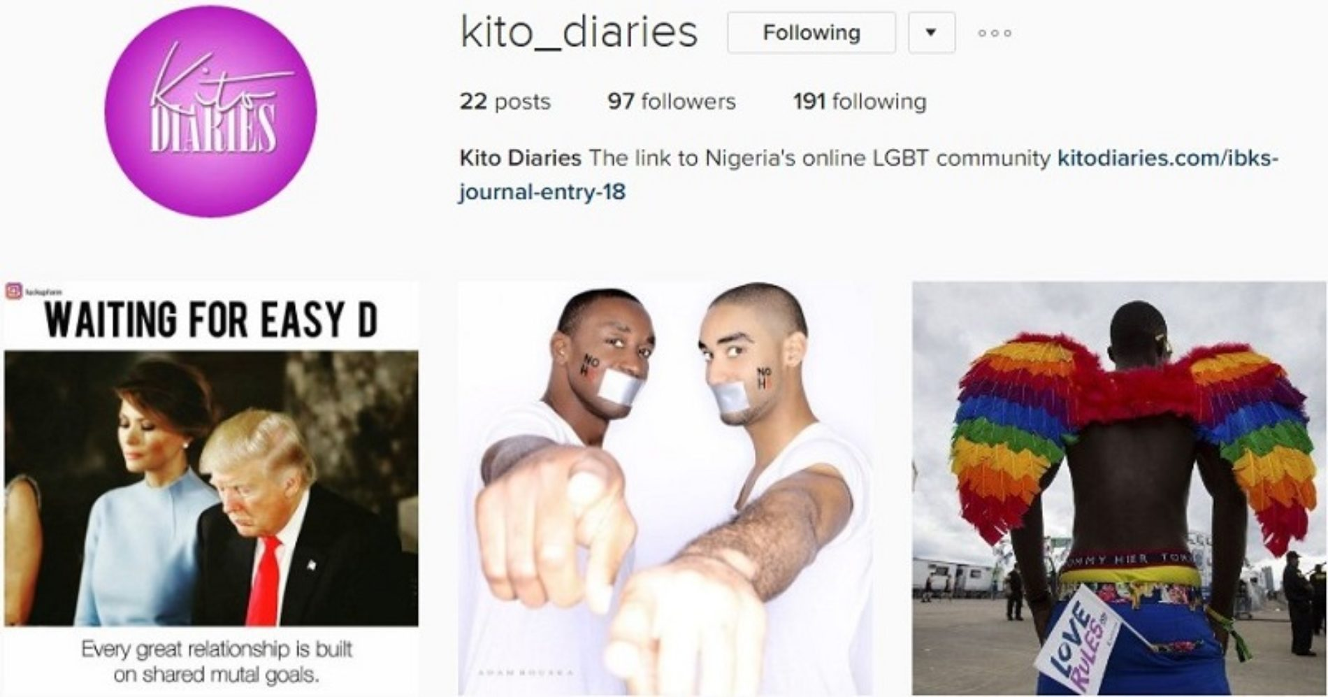 Kito Diaries Is Now On Instagram