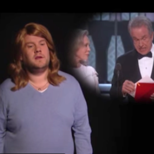 James Corden presents a hilarious satire of the Oscars mishaps