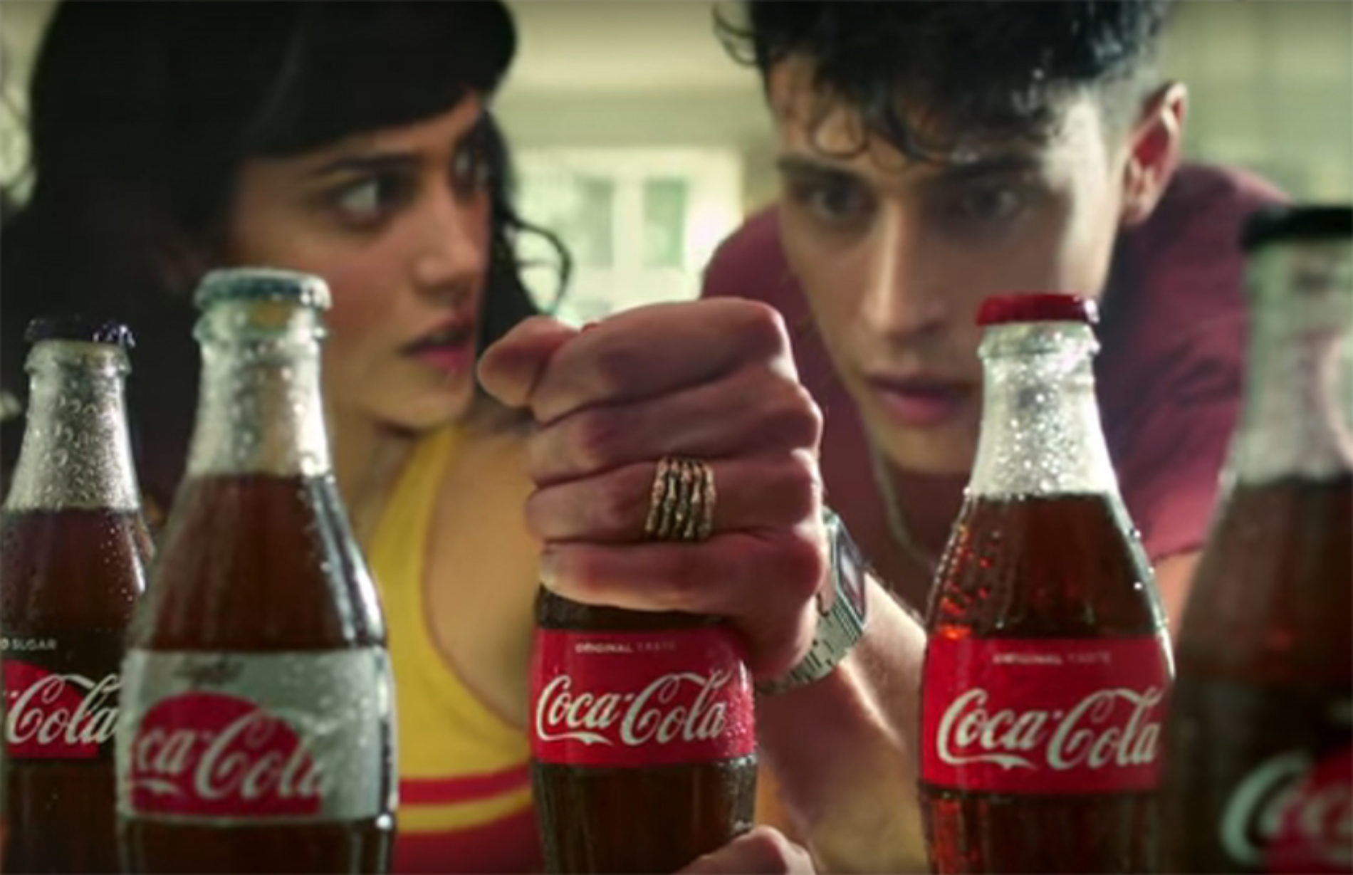 Brother and sister battle over pool boy in groundbreaking Coca-Cola advert