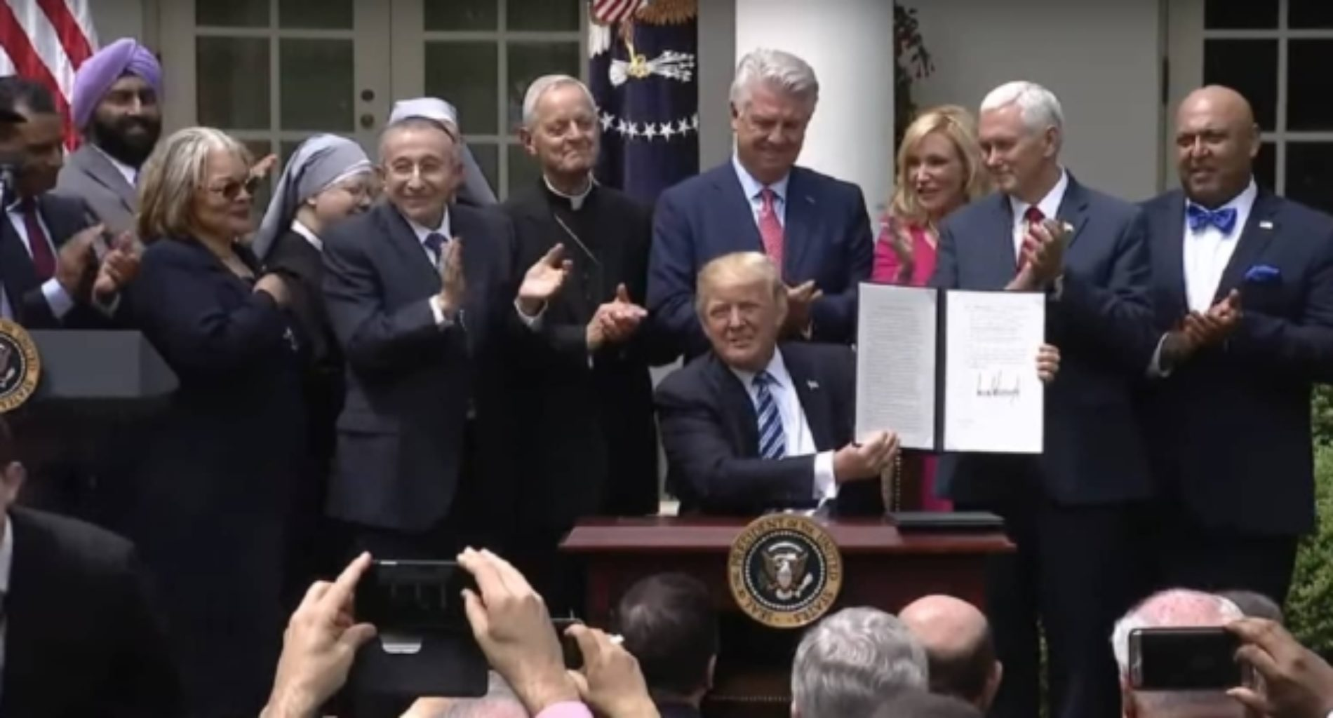 Donald Trump Signs 'Religious Liberty' Executive Order Allowing for Broad Exemptions