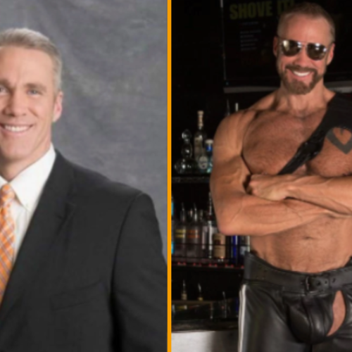 """I am as comfortable in a suit as I am a jockstrap."" Former Fox News anchor, Jim Walker, discusses new life as a gay porn star Dallas Steele"