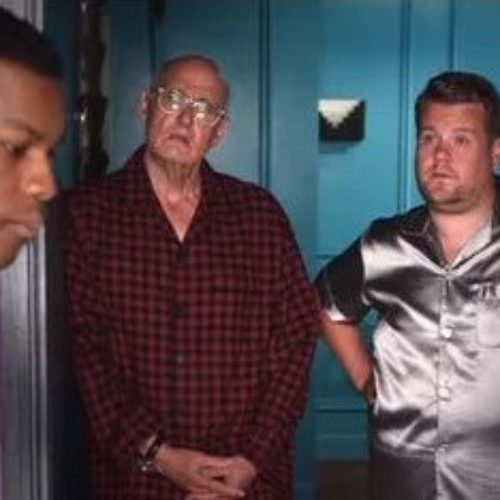 """The Boyega Is Mine."" James Corden and Jeffrey Tambor fight over John Boyega"