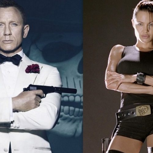 Daniel Craig's James Bond and Angelina Jolie's Lara Croft voted the sexiest film characters of all time