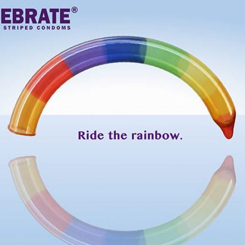 """Ride The Rainbow."" The Rainbow Condom Ad Is Hilarious (and Raunchy) AF"