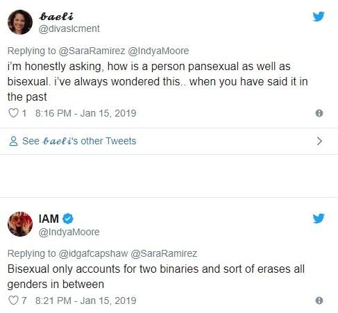 Sara Ramirez and Indya Moore have an illuminating Twitter exchange