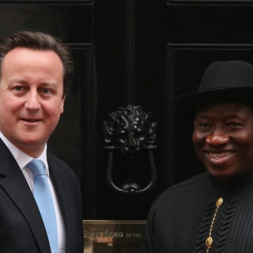 Goodluck Jonathan claims David Cameron has a grudge against him because he refused to legalise homosexuality in Nigeria