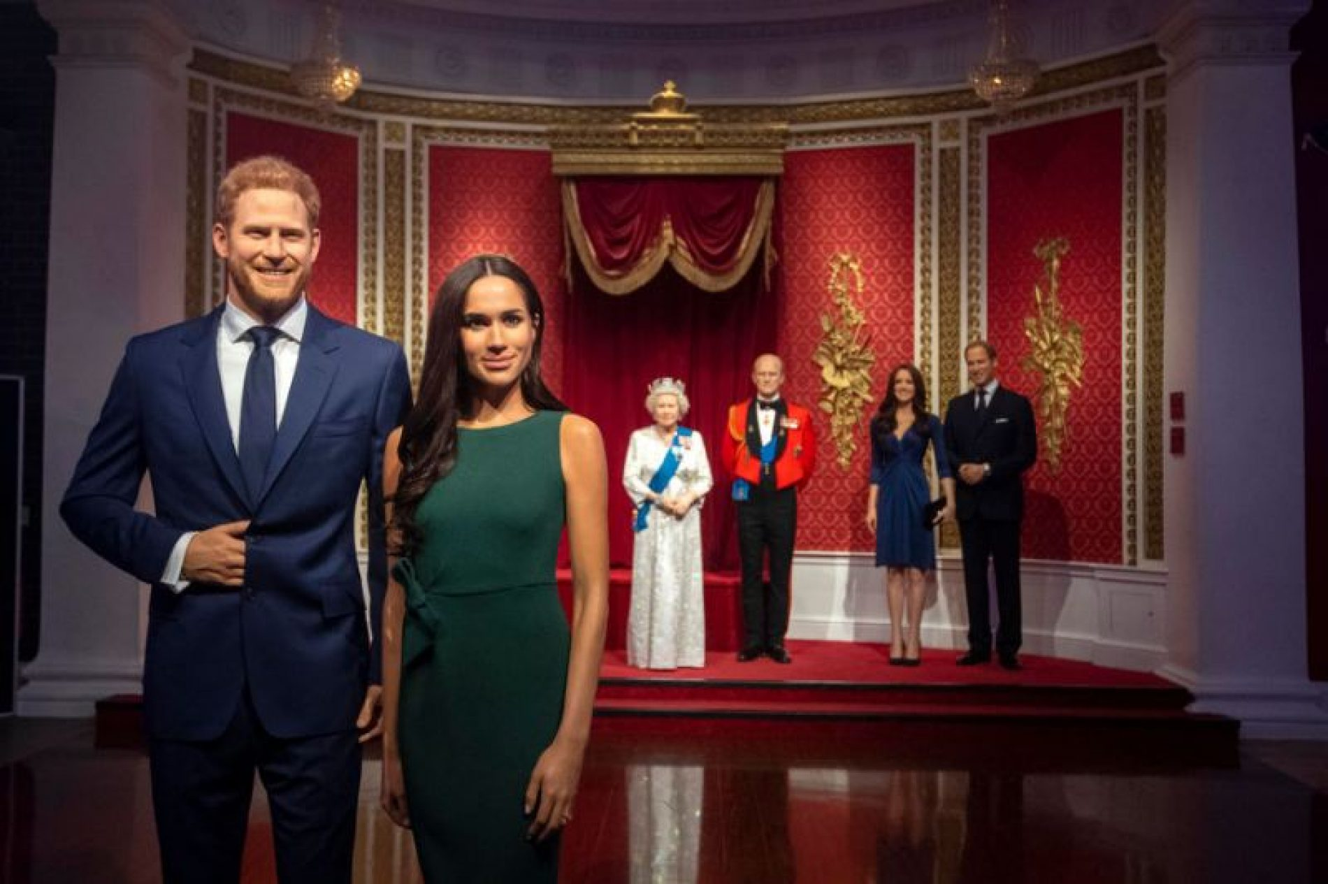 Prince Harry and Meghan Markle are separated from the royals at Madame Tussauds London | Other reactions to the Sussexes' announcement