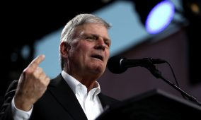 "Hate preacher Franklin Graham says he's not homophobic but that LGBTQ people are ""truthophobic"""
