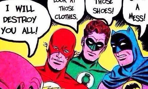 Funny Photo: Superheroes Turned Superbitches