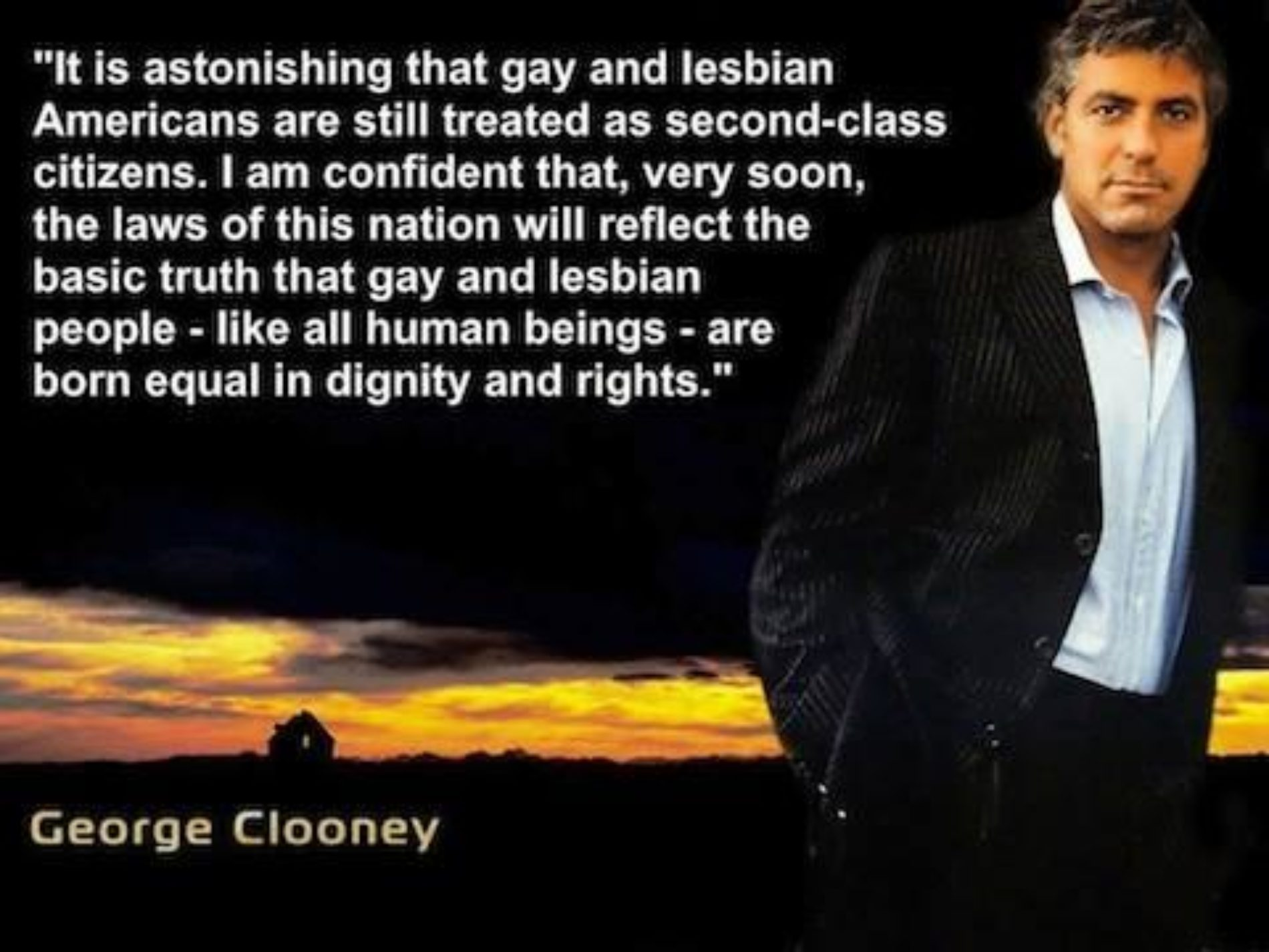 What George Clooney Said…
