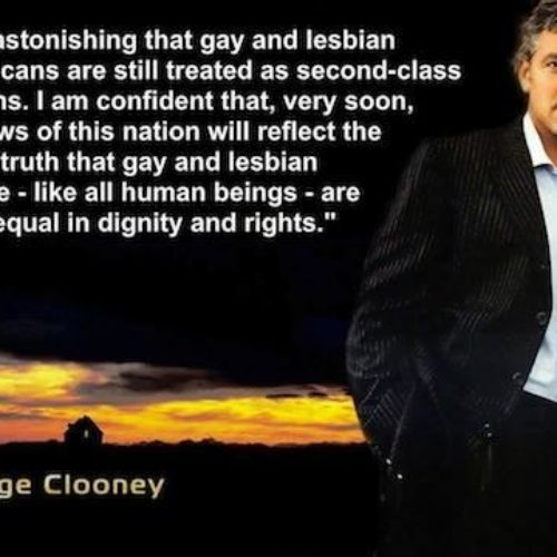 What George Clooney Said…