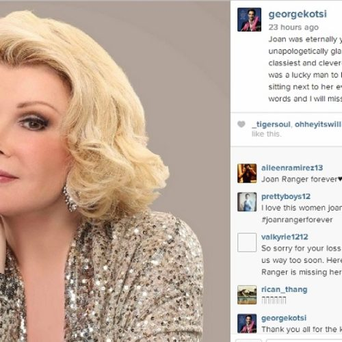 'Fashion Police' Co-star George Kotsiopoulos Responds To Joan Rivers' Death