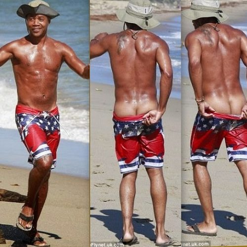 Cuba Gooding Jr. shows off some cakes during beach outing in LA