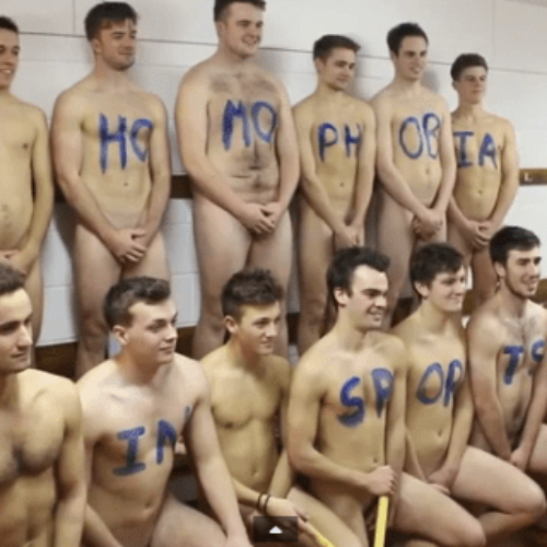 English hockey team strip naked in fight against homophobia
