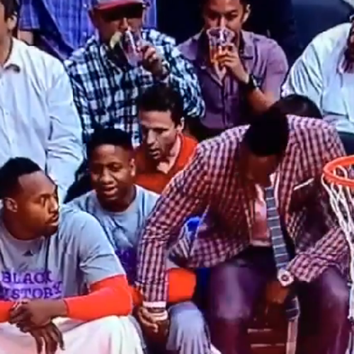 NBA player Dwight Howard pictured grabbing teammate's eggplant
