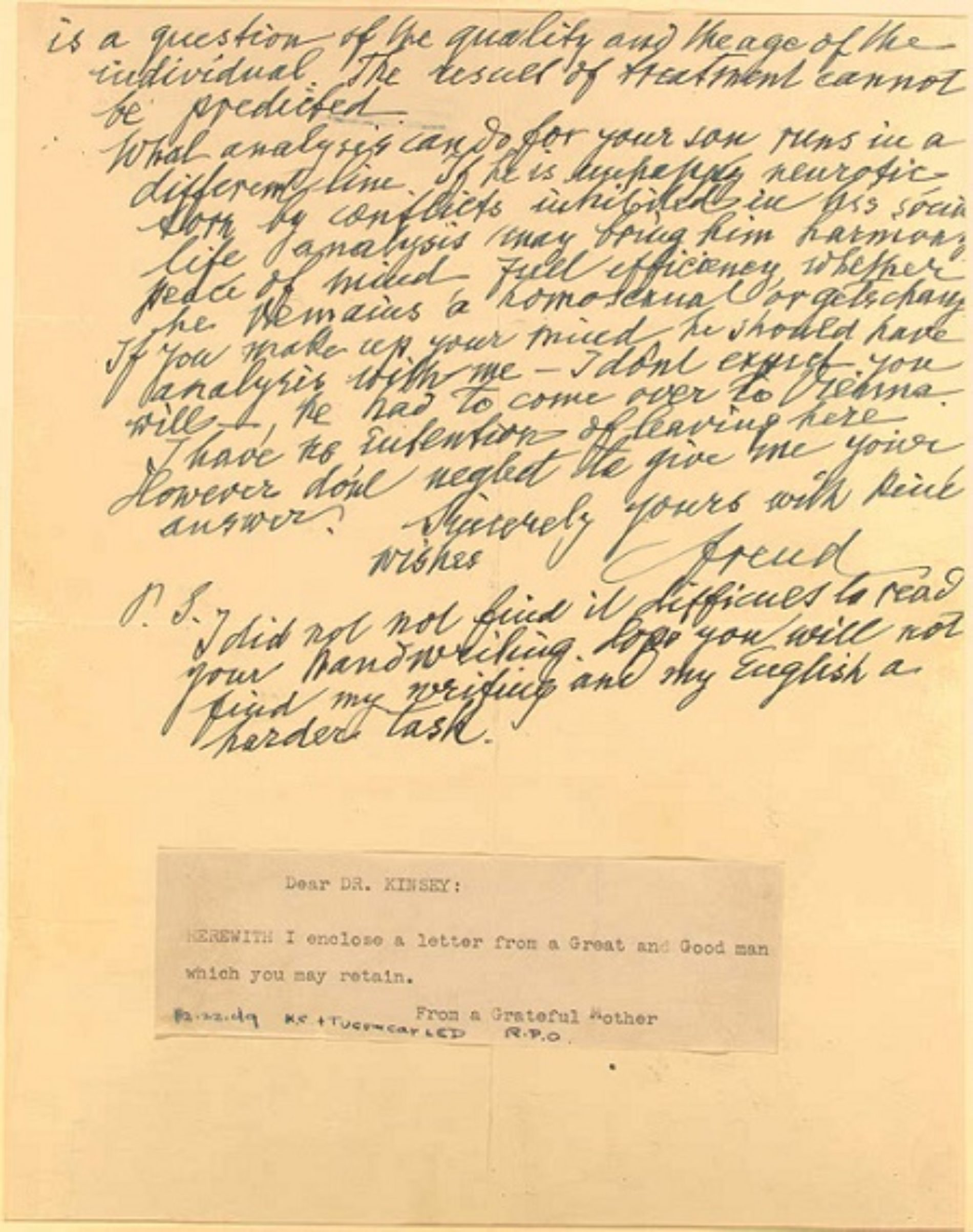 The Letter Sigmund Freud Wrote Which Is A Surprisingly Evolved Take On Homosexuality