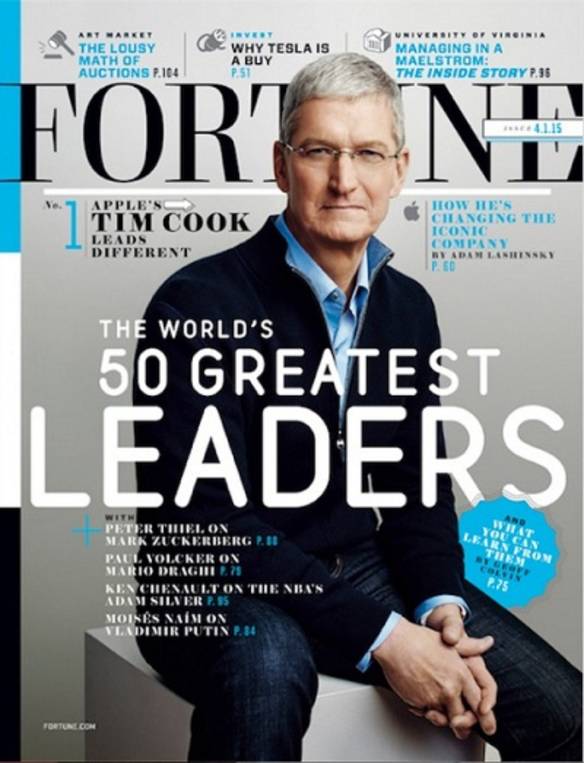 Fortune Calls Apple CEO Tim Cook a 'Global Role Model'