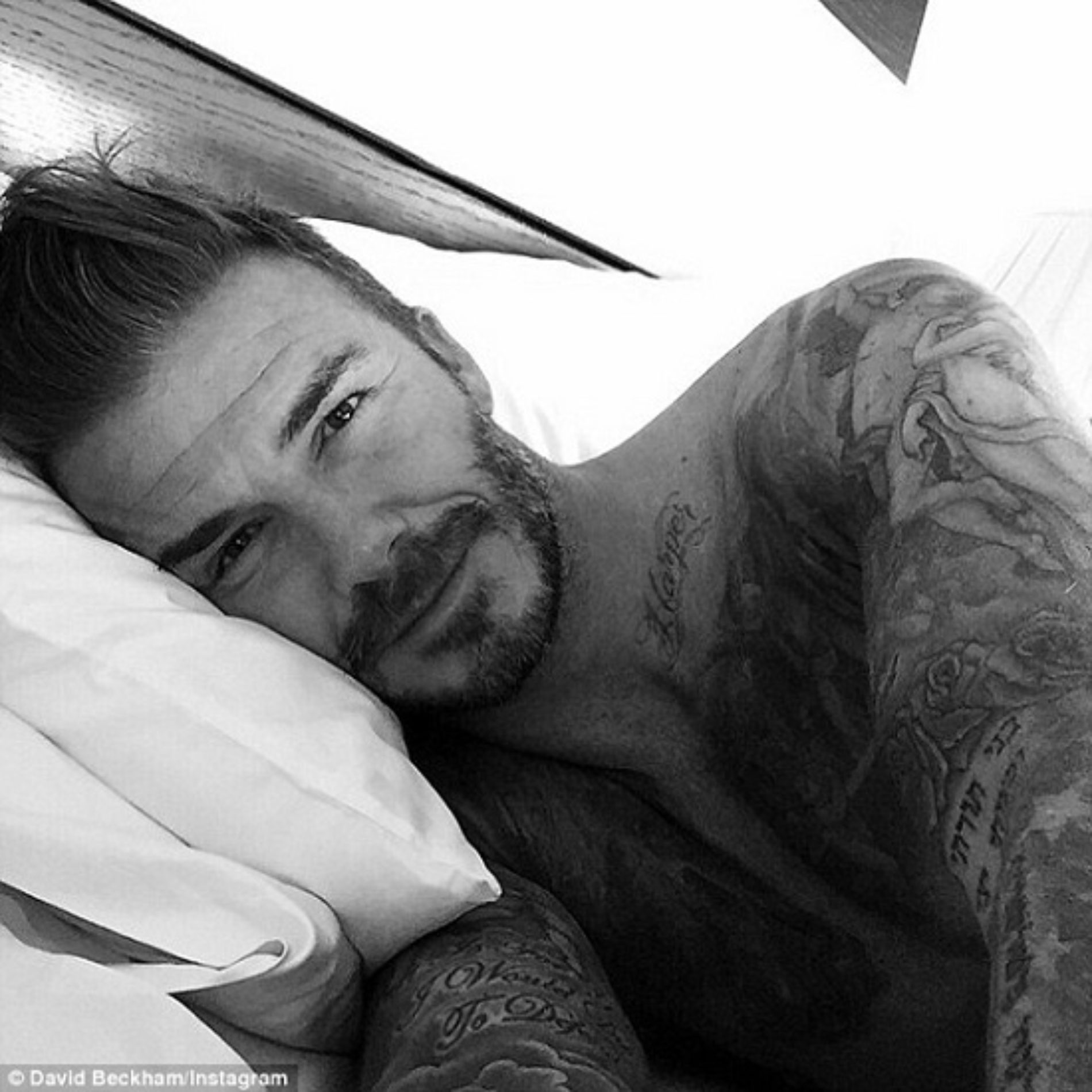Hello! David Beckham's first Instagram snap from Marrakech as he turns 40