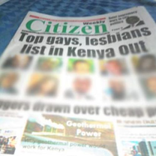 Kenyan Newspaper Prints The Names Of 'Top Homos'