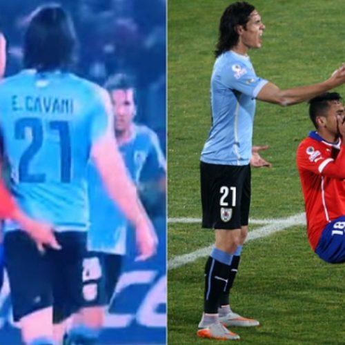 Footballer Cavani slaps Chile defender for inserting finger into his anus