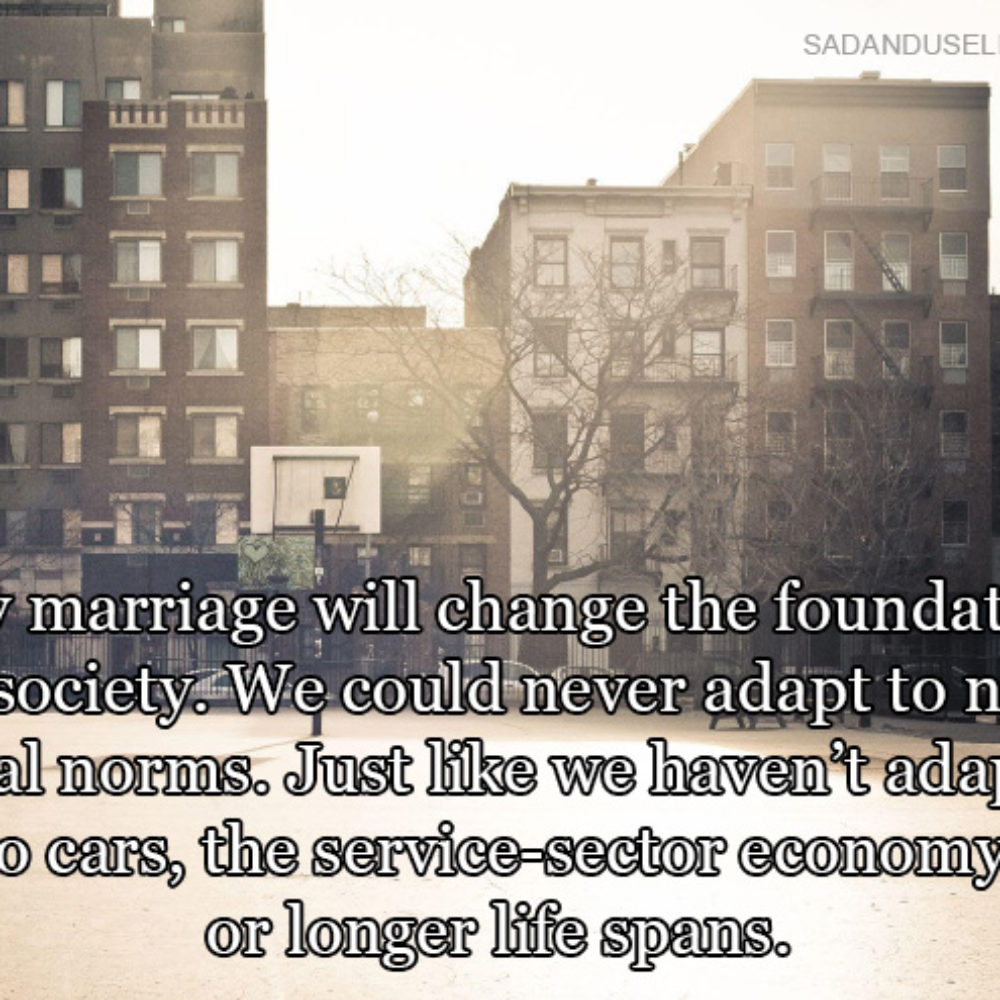 The rise of gay marriage and the decline of straight marriage