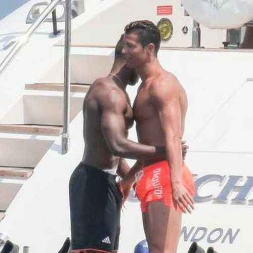 Ahem! Cristiano Ronaldo Seen Fondling Hot Male Friend's Crotch