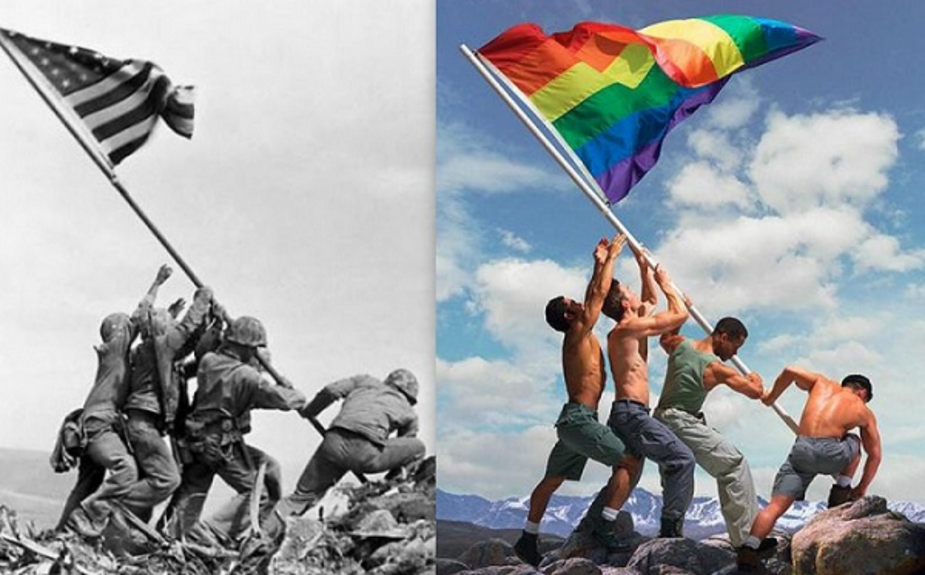 Photographer Slammed for Gay Iwo Jima Photo Re-Creation