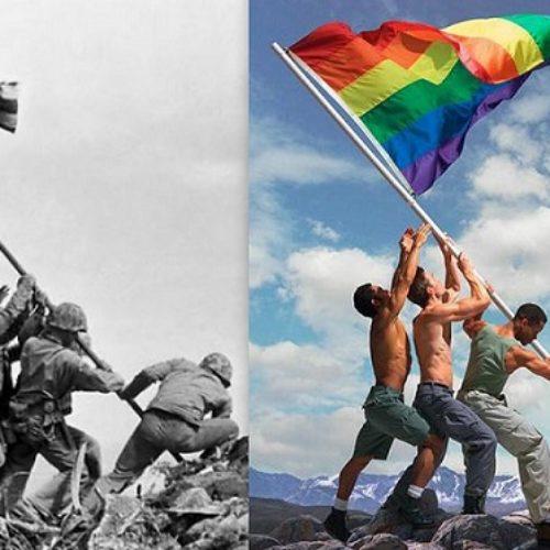 Photographer Slammed for Gay Iwo Jima Photo Re-Creation
