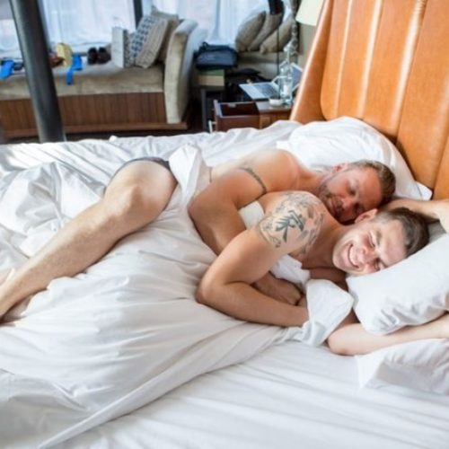 Before He Wed His Wife, This Groom Cuddled Hard With His Best Man