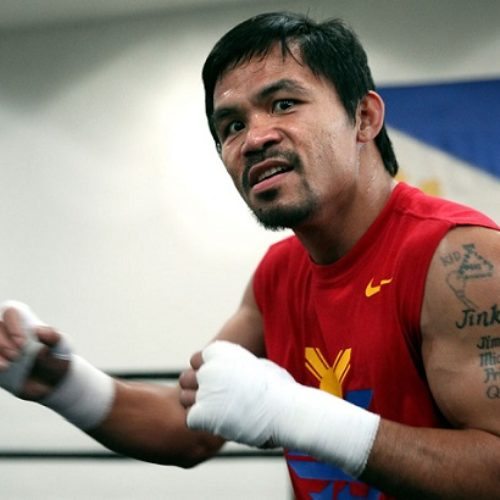 Boxer Manny Pacquiao is not finished with jabbing the LGBT
