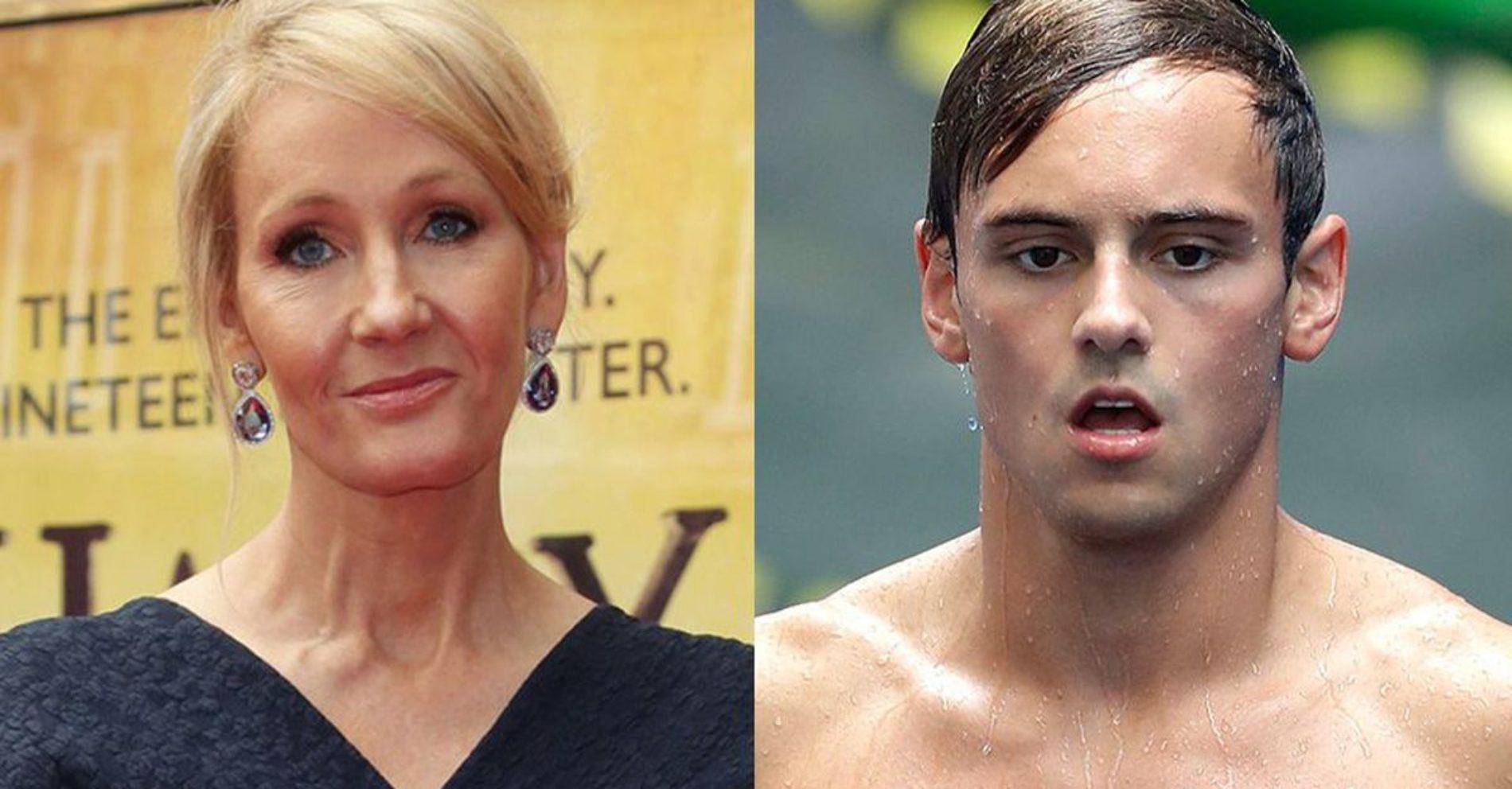 J.K. Rowling shuts down homophobic tweet trolling Tom Daley following his Olympic exit
