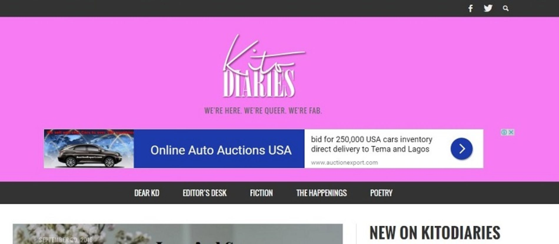 THE OUTREACH THAT IS KITO DIARIES