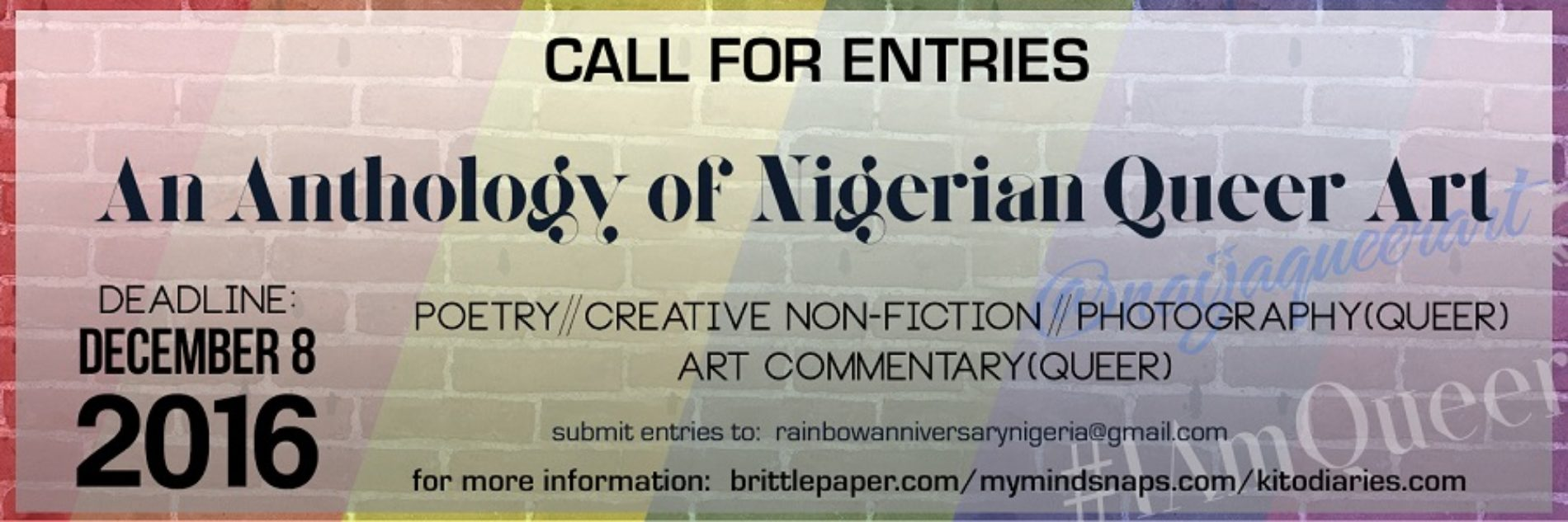 Call for Submissions | An Anthology of Nigerian Queer Art