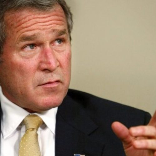 George W Bush warns Trump over plans to slash funding for AIDS programmes