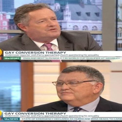'Shut up, you old bigot': Piers Morgan savages man who says homosexuality is a 'sinful abomination'