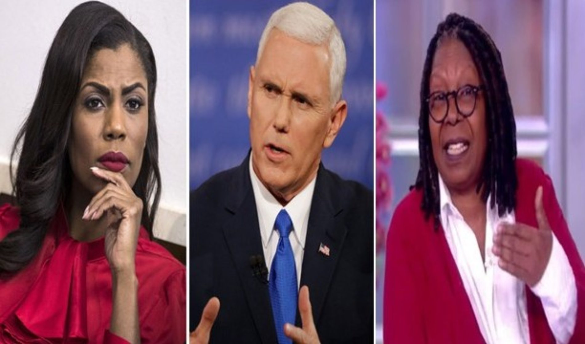 Former White House staffer Omarosa slams VP Mike Pence as worse than Trump, Whoopi Goldberg compares him to Nazi